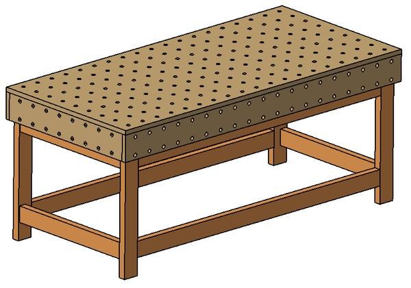 Table d'assemblage - Plan de travail