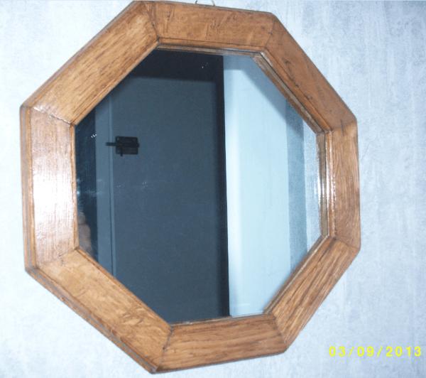 Miroirs par deco bois sur l 39 air du bois for Miroir octogonal