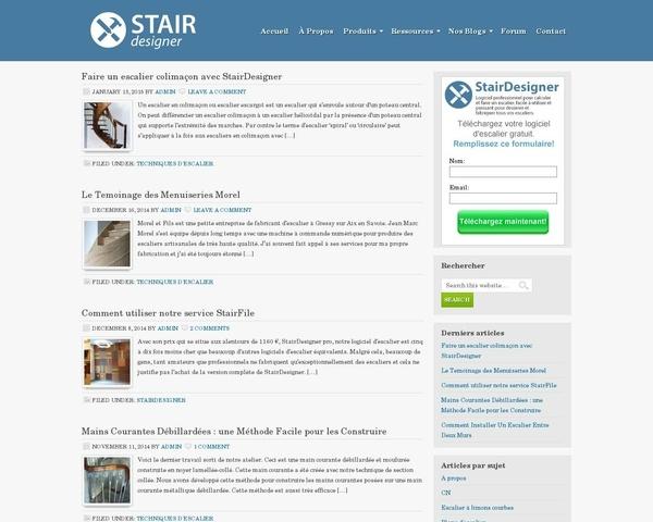 Escalier et main courante débillardé