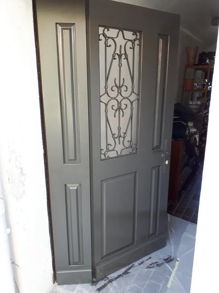 fabrication sur mesure d 39 une porte d 39 entr e par cousin06 sur l 39 air du bois. Black Bedroom Furniture Sets. Home Design Ideas