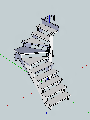 plan escalier un quart tournant par benj44 sur l 39 air du bois. Black Bedroom Furniture Sets. Home Design Ideas