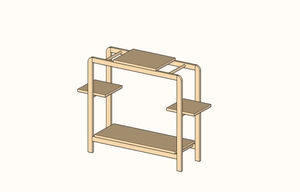 Plan meuble simple pour plantes par spike sur l 39 air du bois - Meubles pour plantes ...
