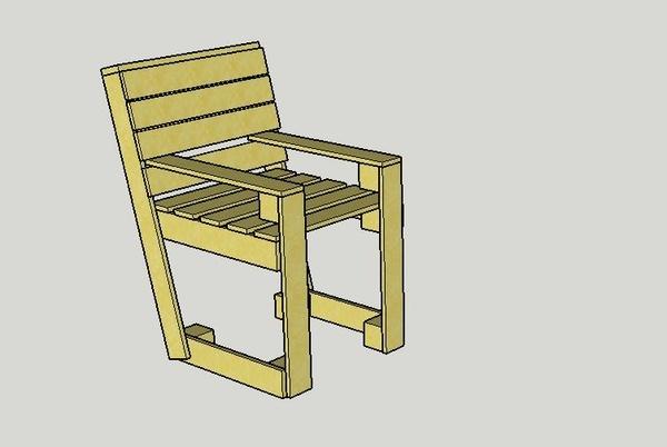 plan fauteuil en palette par mougeat sur l 39 air du bois. Black Bedroom Furniture Sets. Home Design Ideas