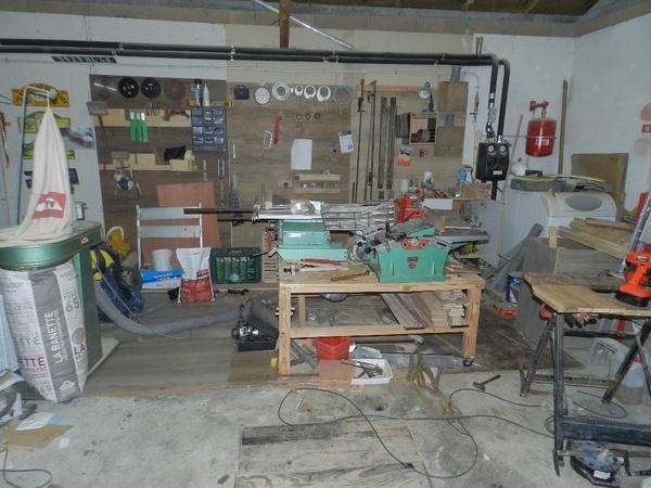 Mon atelier provisoire