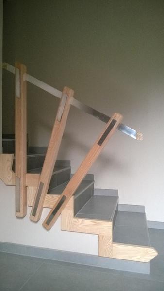 descente d 39 escalier metal et bois par metallibois sur l 39 air du bois. Black Bedroom Furniture Sets. Home Design Ideas