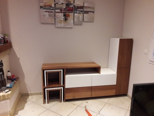Meuble TV MDF - Sapelli
