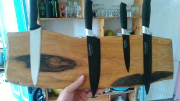 Porte couteaux magn tique par blondin sur l 39 air du bois - Porte couteau magnetique ...