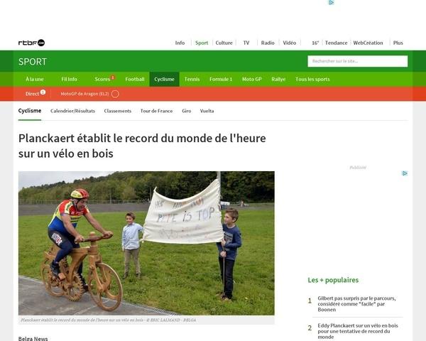 Record du monde de l'heure sur un vélo en bois