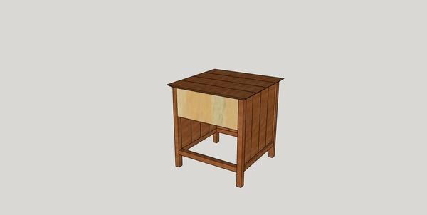 Une petite table de nuit toute simple